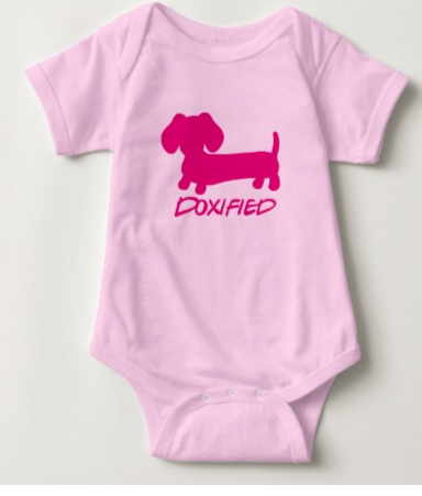 Doxified Dachshund Baby One Piece Baby Outfit, The Smoothe Store