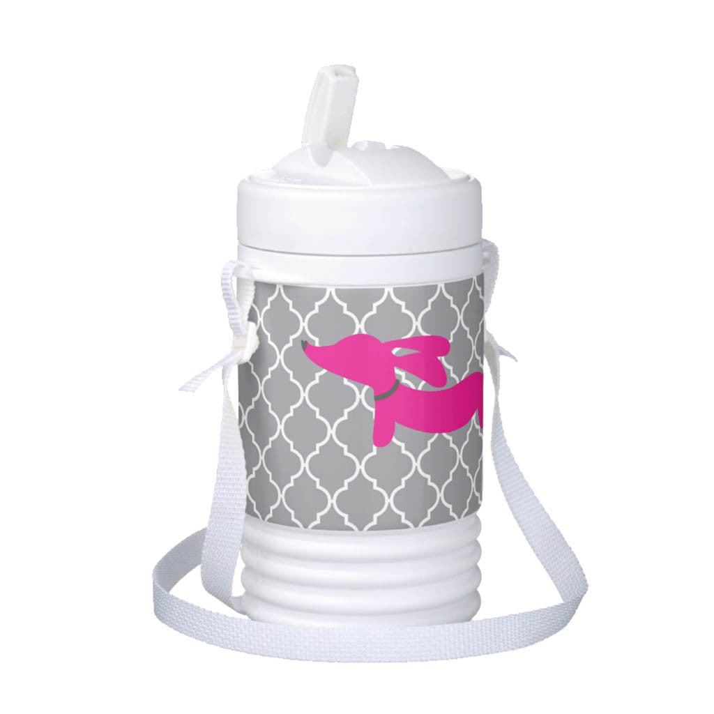 Pink Dachshund Igloo Cooler Drink Bottles - The Smoothe Store