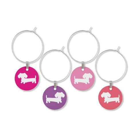 Wiener Dog Wine Glass Charms, The Smoothe Store