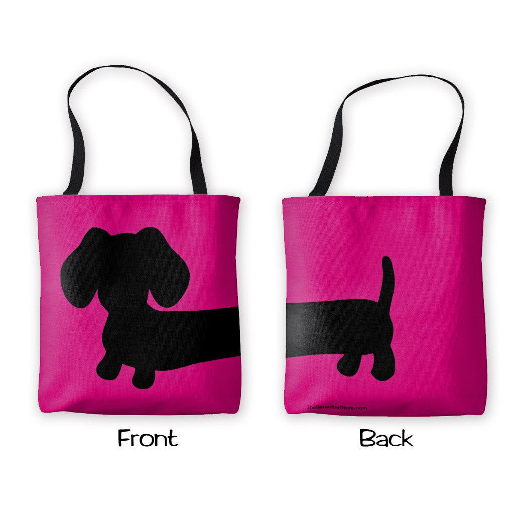 Brightly Colored Dachshund Tote Bag - The Smoothe Store