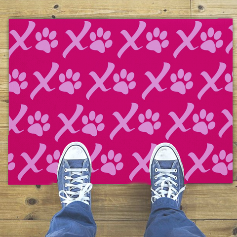 XOXO Puppy Love Paw Print Doormat
