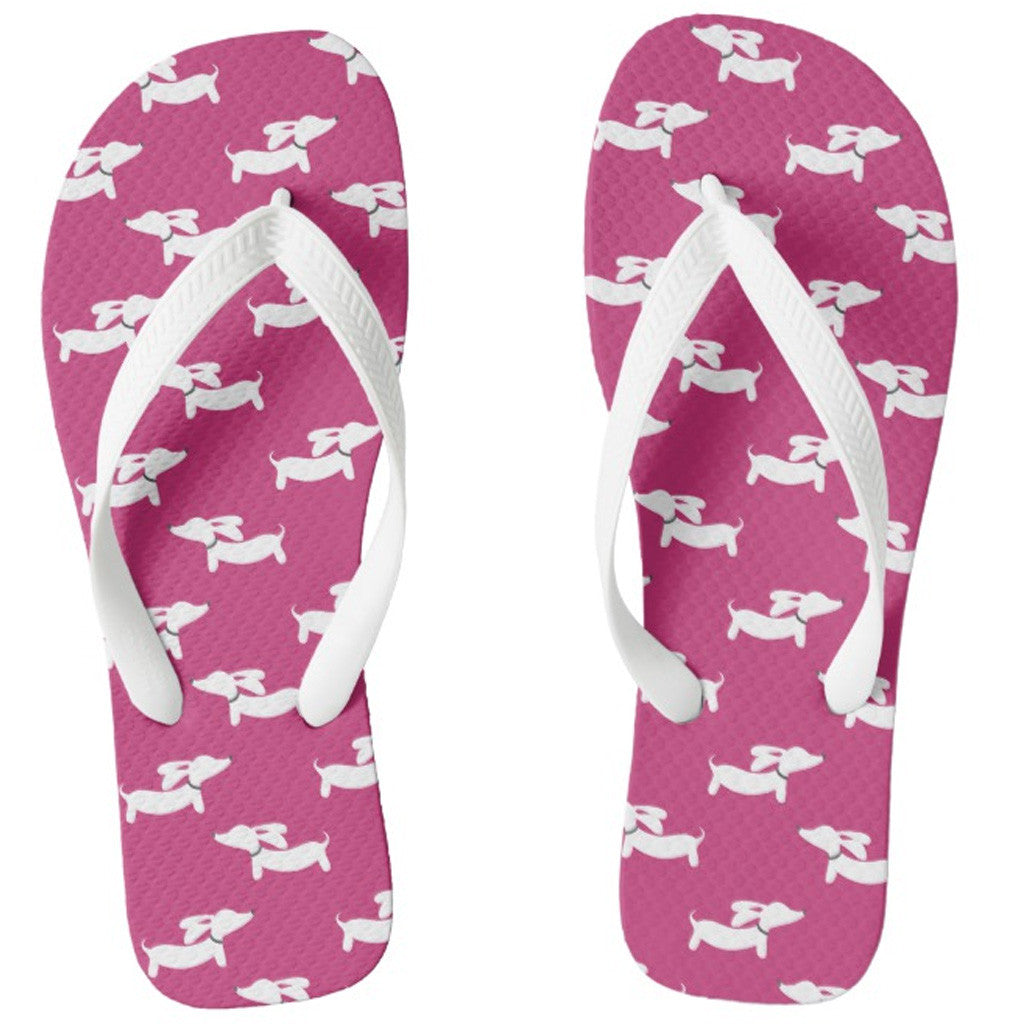 Dachshund Flip Flops Thong Style