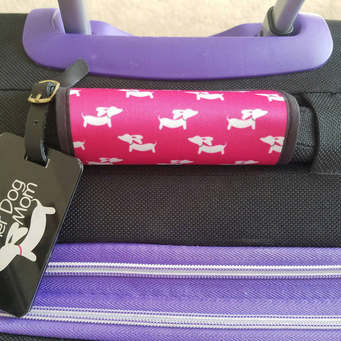 Wiener Dog Luggage Handle Wraps