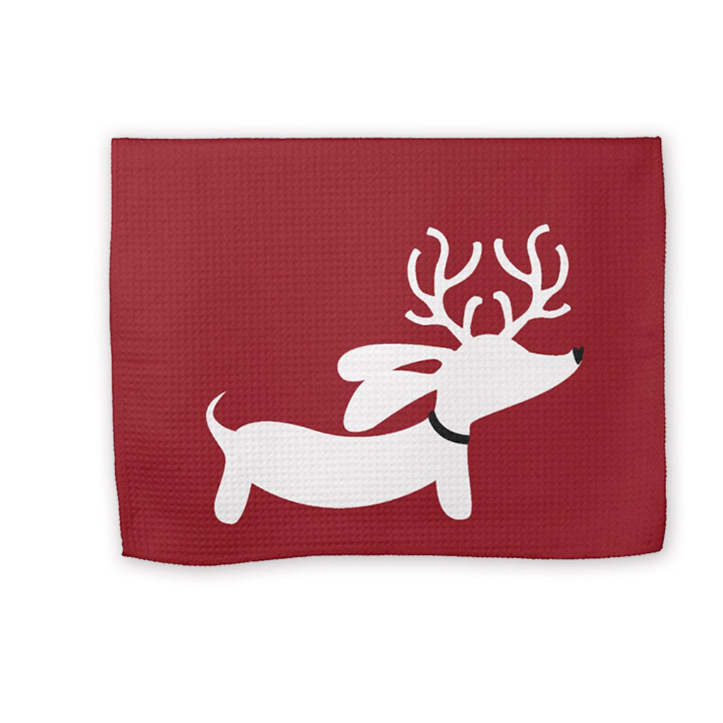 Christmas Dachshund Kitchen Dish Towels