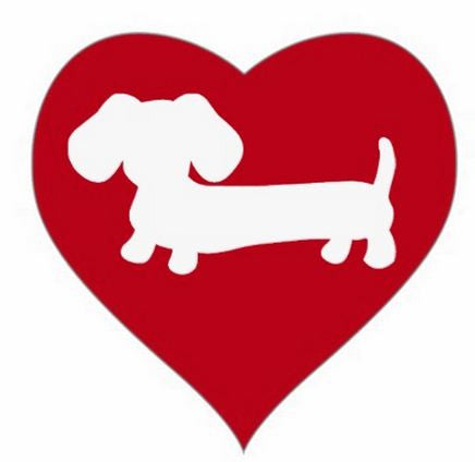 Red or Pink Heart Dachshund Envelope Seals - The Smoothe Store