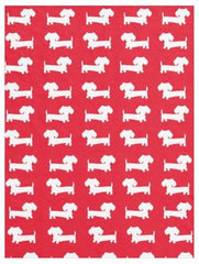 Nursery or Child's Room | Navy, Red and Beige Dachshunds