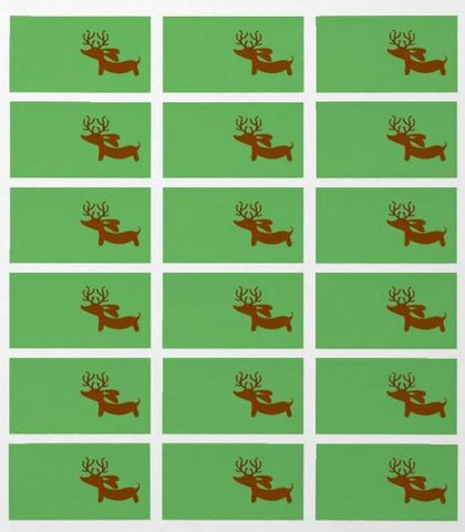 Dachshund Christmas Gift Labels (18 per sheet), The Smoothe Store