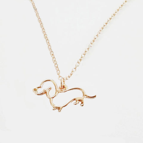 Dachshund Necklace - Silhouette Shape