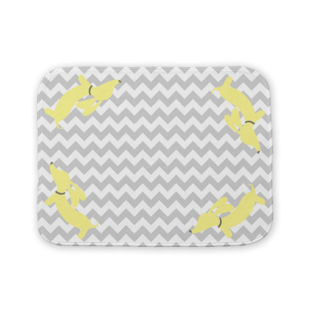 Yellow & Pink Sausage Dog Baby Burp Cloth - The Smoothe Store