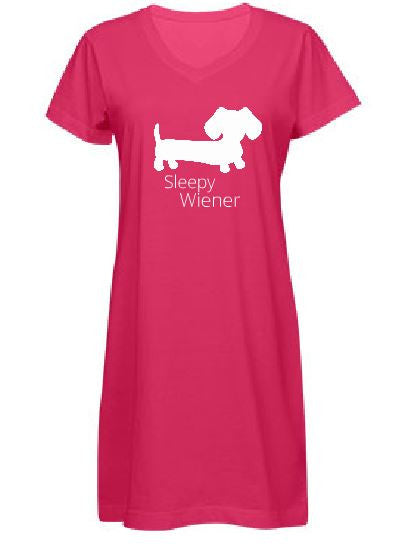 Sleepy Wiener Dachshund PJ Night Gown, The Smoothe Store