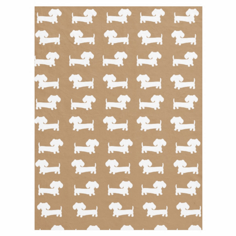 Dachshund Fleece Blanket |  Navy or Beige or Red - The Smoothe Store - 3