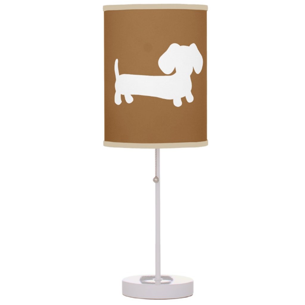 Navy, Brown or Nautical Dachshund Lamp, The Smoothe Store