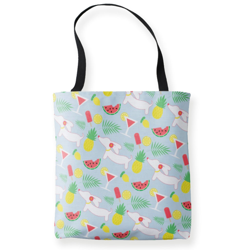 Tutti Frutti Dachshund Cutie Tote Bag, The Smoothe Store