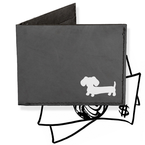 Black Dachshund Billfold Wallet