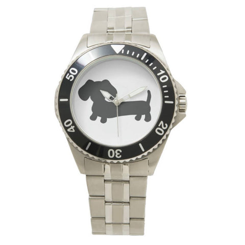 Men's Stainless Steel Dachshund Watch