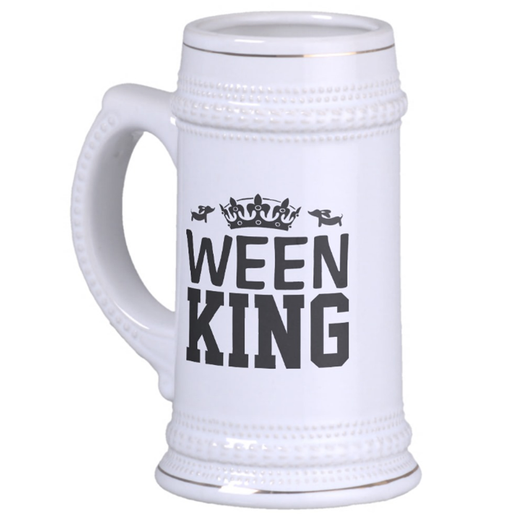 Ween King Dachshund Dad Beer Stein, The Smoothe Store