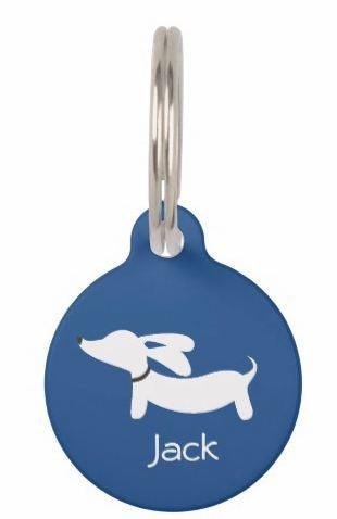 ID Tags | White Flyings Ears Doxie on Various Colors