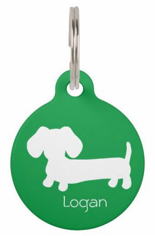 ID Tags | White Puppy Doxie on Various Colors, The Smoothe Store