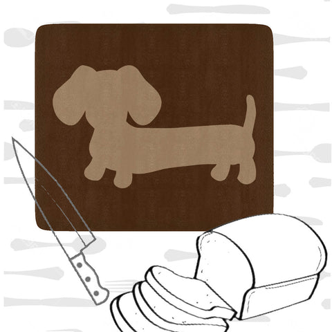 Dachshund Kitchen Cutting Board - Brown