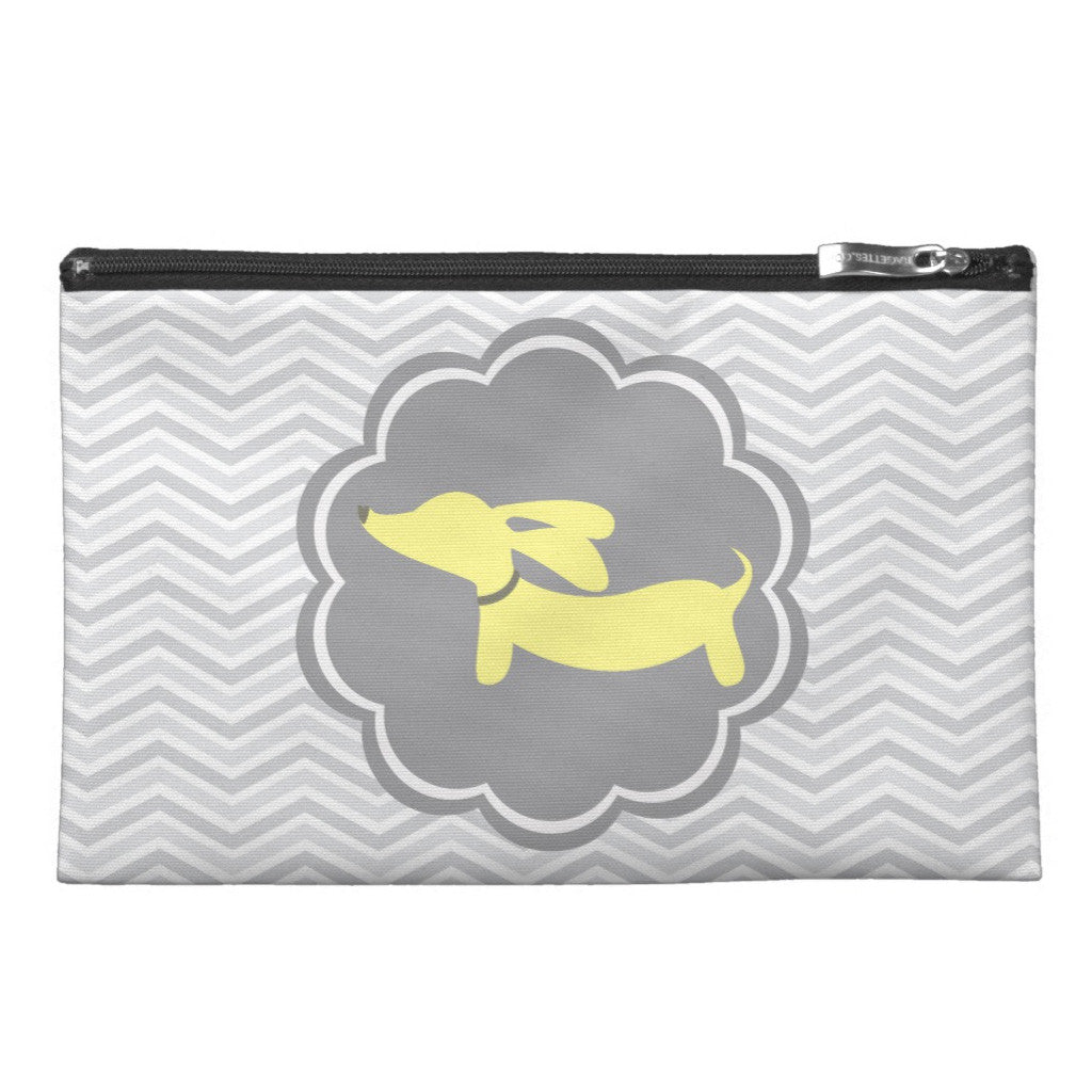 Yellow and Gray Dachshund Diaper Accessory Bags, The Smoothe Store