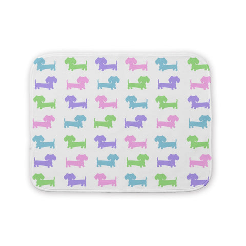Multi-Colored Wiener Dog Burp Cloth