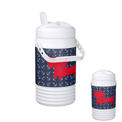 Nautical Dachshund Igloo Cooler Bottle