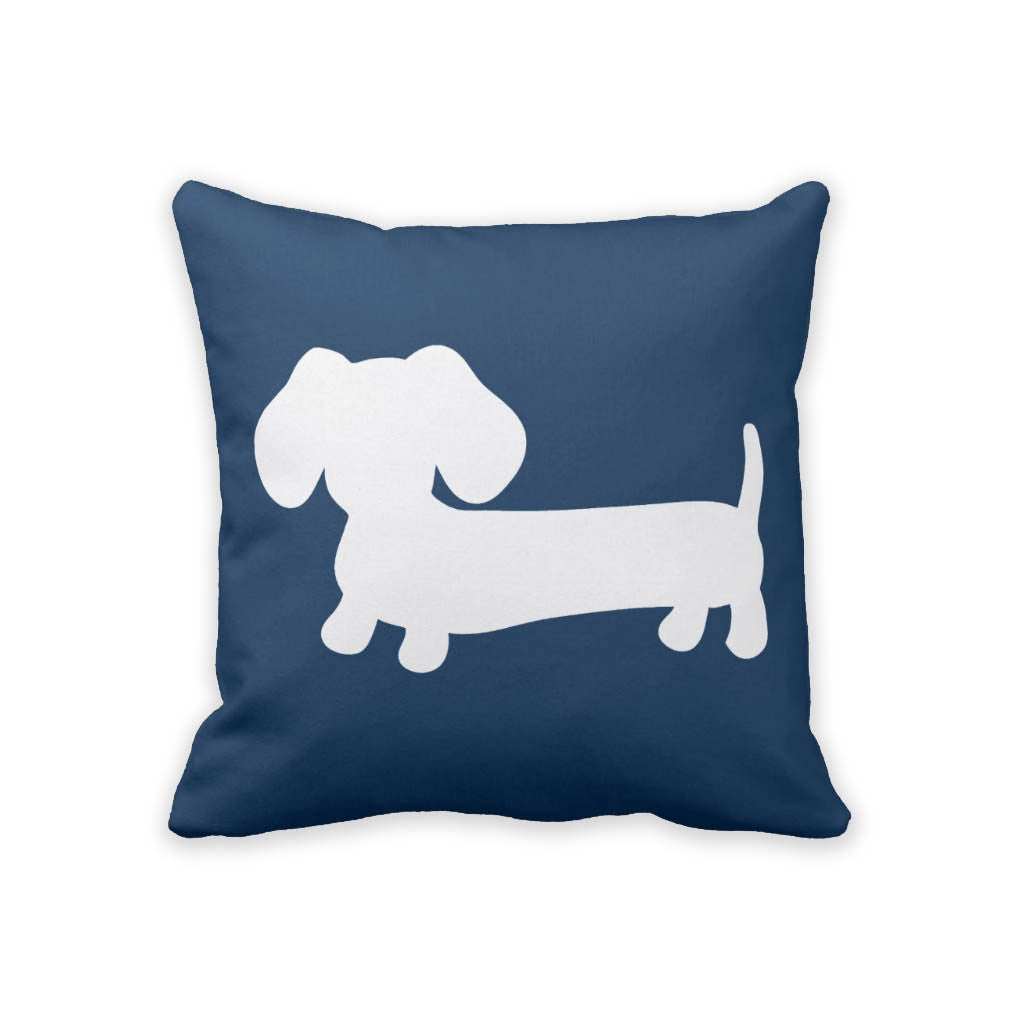 White & Navy Dachshund Pillow - The Smoothe Store - 2