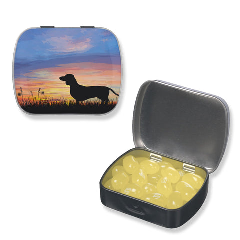 Dachshund Pill Case or Tiny Treat or Gift Tin, The Smoothe Store