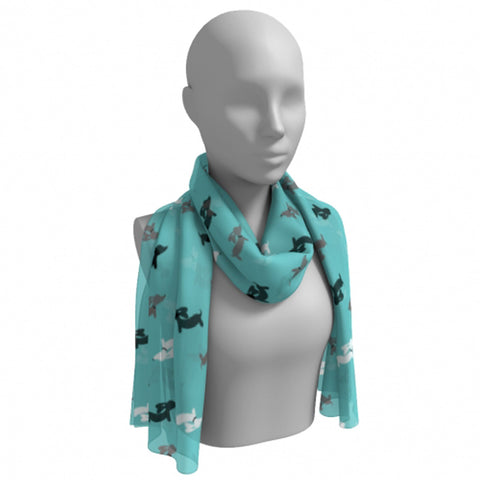 Blue Dachshund Scarf Lightweight, The Smoothe Store
