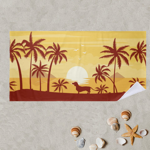 SoCal Style Dachshund Beach Towel
