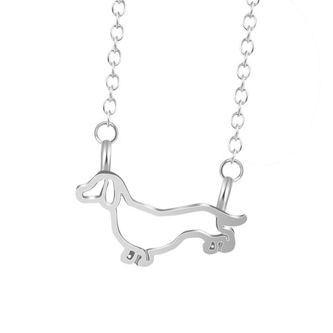 Wiener Dog Pendant Necklace