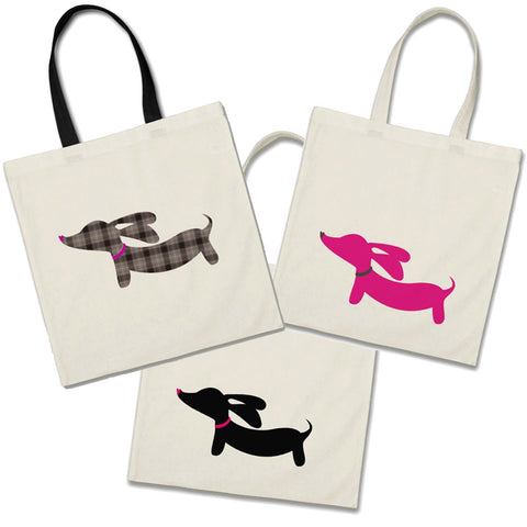 Small Doxie Tote Bags