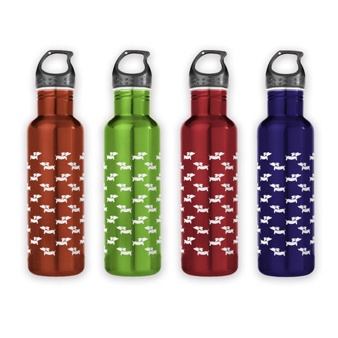 Stainless Steel Wiener Dog Water Bottles