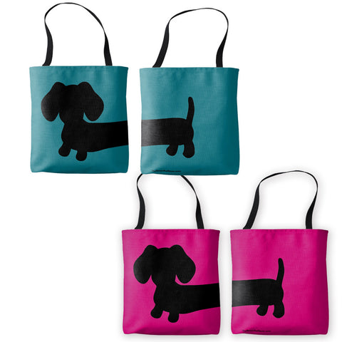 Brightly Colored Dachshund Tote Bag
