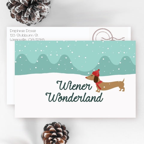 Wiener Wonderland Dachshund Christmas Cards, The Smoothe Store