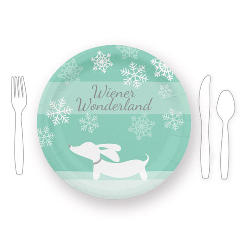 Wiener Wonderland Christmas Paper Plates - The Smoothe Store