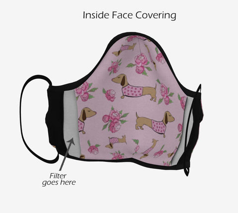 Wiener Dog Cloth Face Mask - Reusable