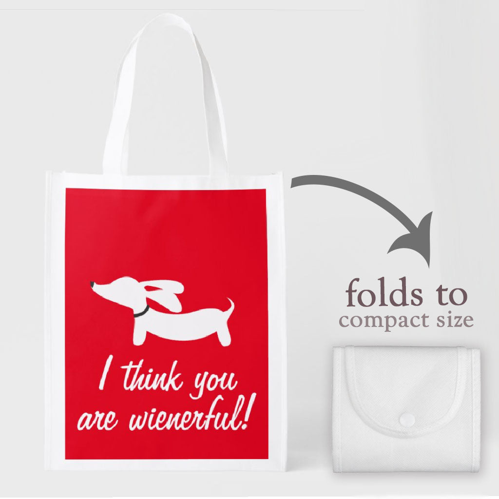 I Think You Are Wienerful Tote Bag, The Smoothe Store