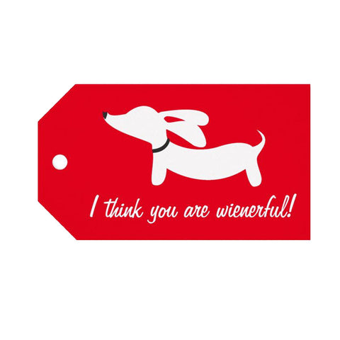 """I think you are wienerful!"" Dachshund Gift Tags - The Smoothe Store"