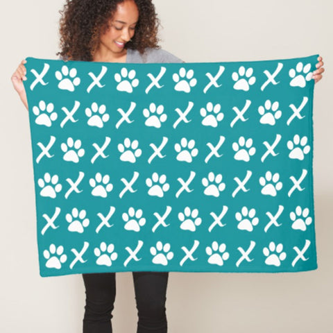 XOXO Puppy Love Blankets | Pink, Teal or Chocolate, The Smoothe Store
