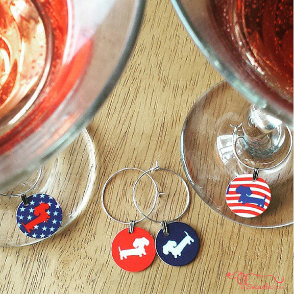 Dachshund Wine Glass Charms & Hostess Gifts