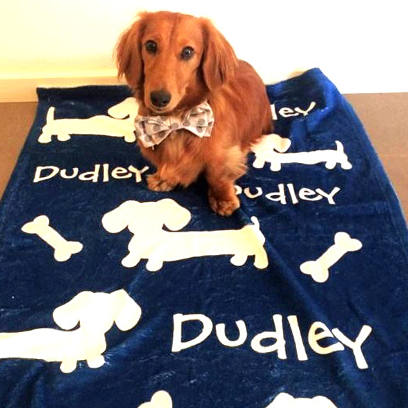 Wiener Dog Blankets Personalized