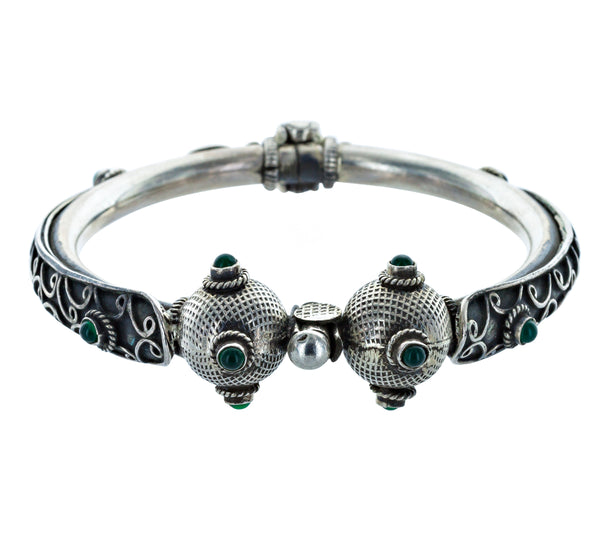 ANAIS silver and green tourmaline bracelet