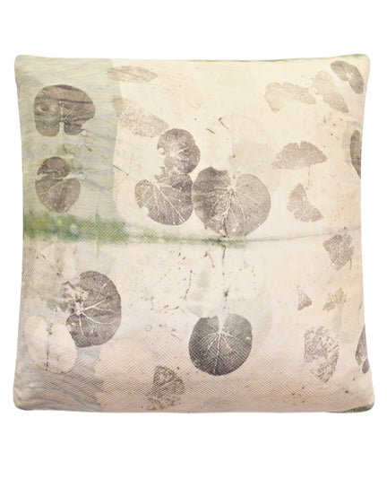 CAMOMILLE silk pillow case ecoprinting