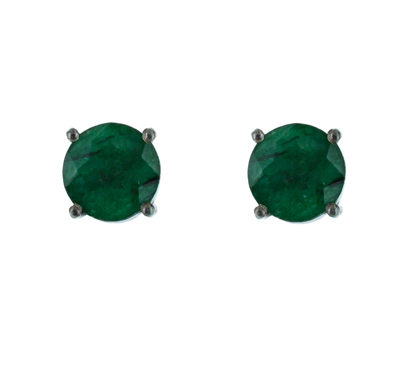 COLETTE green tourmaline stud earrings in silver