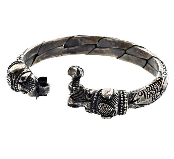 EVE silver bracelet with elephants and fish