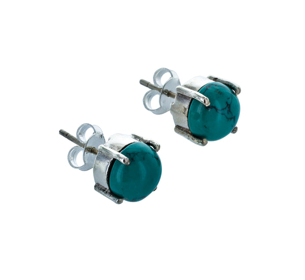 JACQUELINE silver turquoise earrings