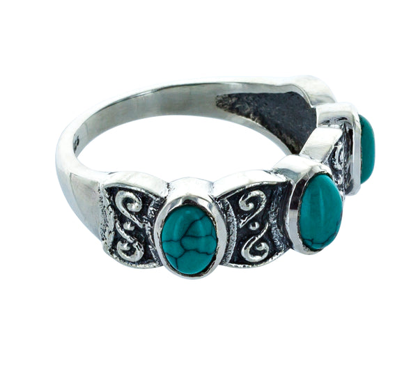MICHELLE turquoise silver ring
