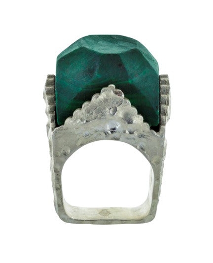 isabelle malachite silver ring