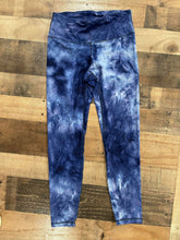 Load image into Gallery viewer, Our Mineral Wash Leggings are a must have for everyday! These Buttery soft, ankle length leggings have a beautiful color combo mixing navy, light blue and white all together. These trendy soft leggings are calling your name!